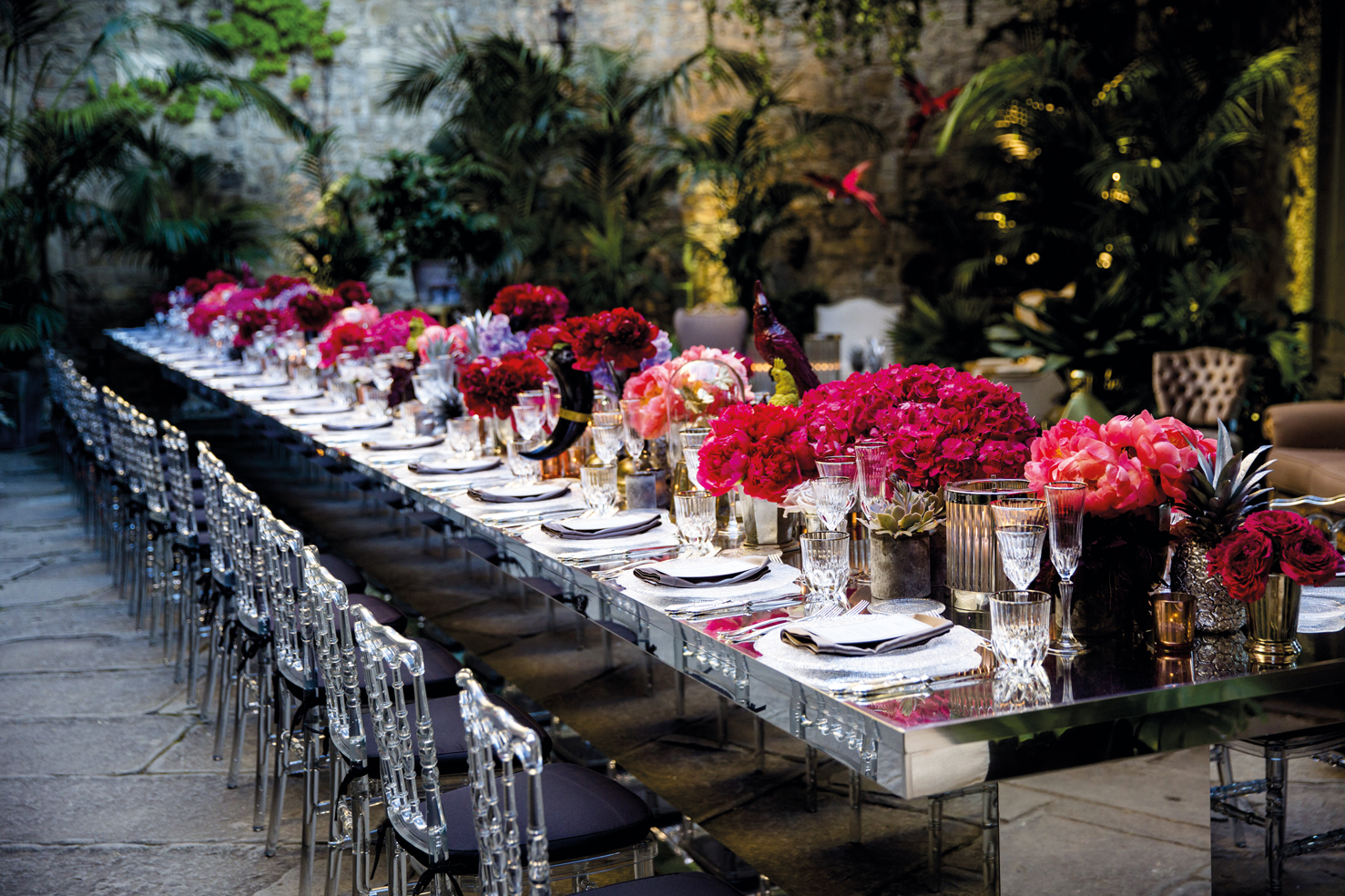 infinity jungle chic The Real Wedding