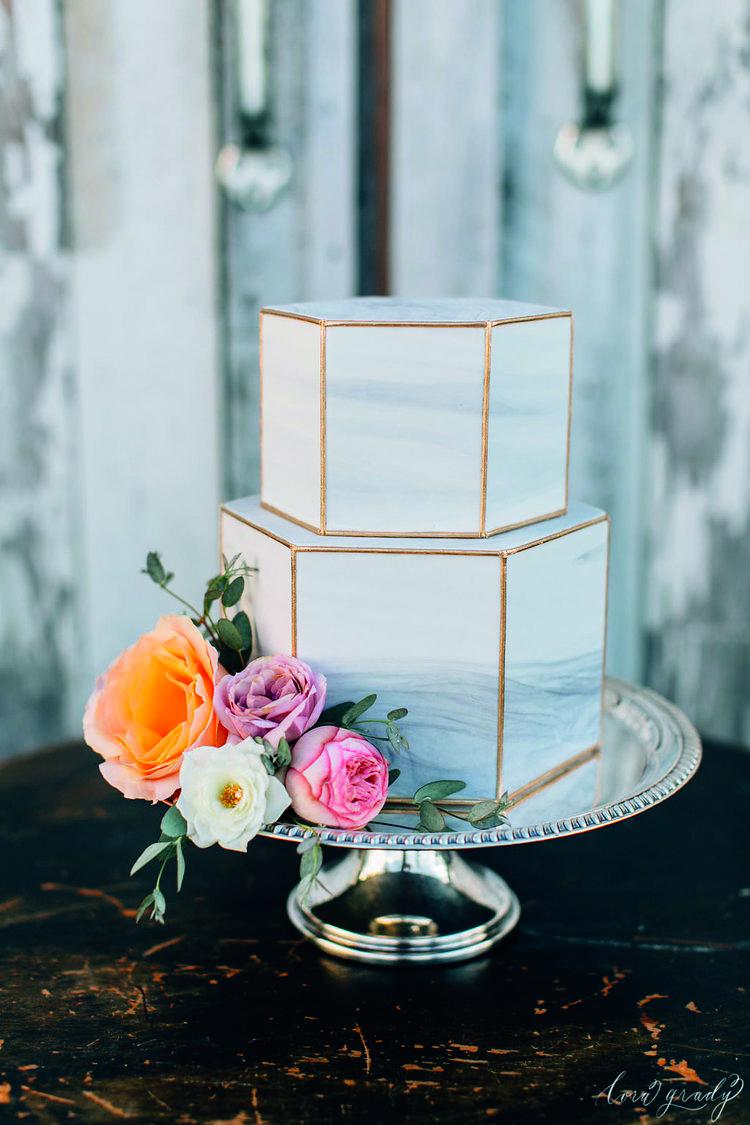 torta effetto marmo