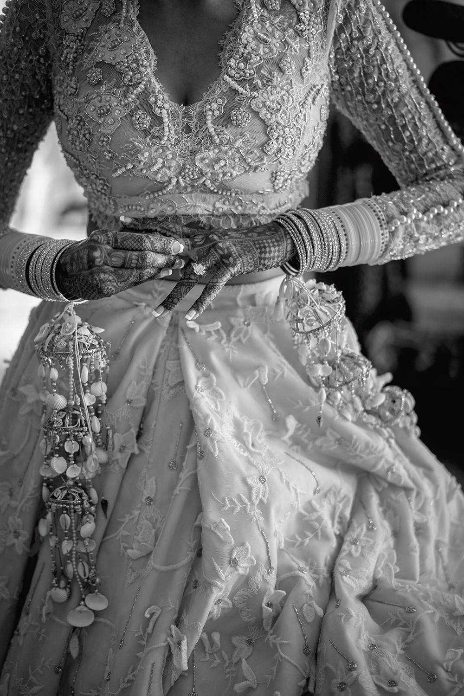 bianco e nero sposa india